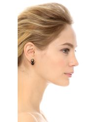 Tory Burch | Evie Double Stud Earrings - Black | Lyst