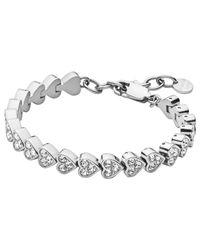 Dyrberg/Kern | Metallic Dyrberg/kern Muamor Heart Swarovski Crystal Bracelet | Lyst