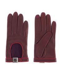 Henri Bendel - Purple Iconic Leather Gloves - Lyst