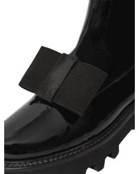 Walter Steiger | Black 40mm Dandy Bow Patent Leather Boots | Lyst