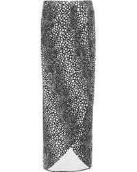 Tart Collections - Black Annina Snake-print Stretch-modal Maxi Skirt - Lyst