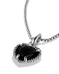 David Yurman - Metallic Cable Heart Pendant With Black Onyx - Lyst
