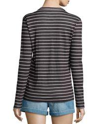 Étoile Isabel Marant - Black Karon Long-sleeve Dublin Striped Tee - Lyst
