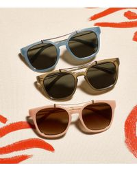 Tory Burch | Pink Metal Brow-bar Sunglasses | Lyst