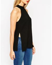 ASOS - Black Tall Halterneck Backless Top - Lyst