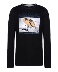 Napapijri | Black Long Sleeve T-shirt for Men | Lyst