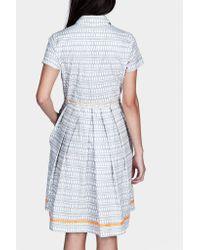 lemlem | Gray Fitted Shirt Dress | Lyst