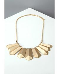 Forever 21 | Metallic Geo-pendant Statement Necklace | Lyst
