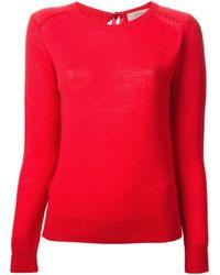 Vanessa Bruno Athé - Red Rear Tie Sweater - Lyst