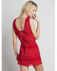 Free People - Red Under Your Spell Dress - Lyst