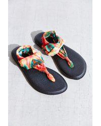 Sanuk | Black Tie-dye Yoga Sling Sandal | Lyst