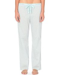 Calvin Klein | Blue Patterned Cotton Pyjama Bottoms | Lyst