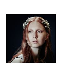 Colette Malouf | Black Mesh Athena Headband | Lyst