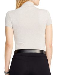 Lauren by Ralph Lauren | Gray Plus Short Sleeve Turtleneck | Lyst