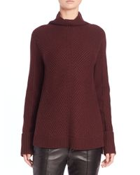 VINCE | Purple Directional Wool & Cashmere Ribbed Sweater | Lyst