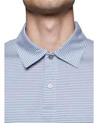 Sunspel | Blue Cotton Striped Polo Shirt for Men | Lyst