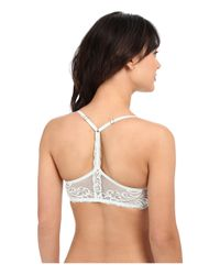 Natori - White Feathers Front Close T-back Bra 735023 - Lyst