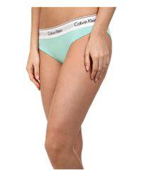 Calvin Klein | Green Modern Cotton Bikini | Lyst