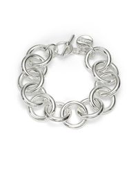 1AR By Unoaerre | Metallic Circle Link Bracelet | Lyst