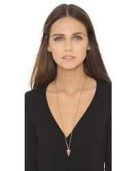 Vita Fede | Pink Big Hex Necklace - Rose Gold | Lyst