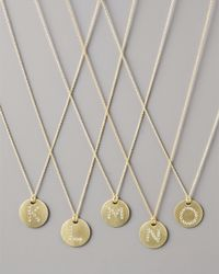 Roberto Coin - Metallic Letter Medallion Necklace - Lyst