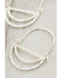 Anthropologie | Metallic Tiered Crescent Hoops | Lyst