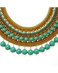 Margot & Me - Metallic Erin Necklace In Gold - Lyst