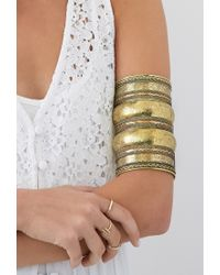Forever 21 - Metallic Elephant Floral Etched Arm Cuff - Lyst