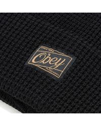 Obey | Black Luxembourg Pom Beanie for Men | Lyst