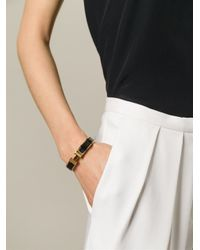 Hermès - Black 'Clic Clac H' Bracelet - Lyst