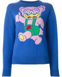 Jeremy Scott - Blue Bear Intarsia Sweater - Lyst