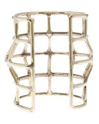 Anndra Neen | Metallic Cage Cuff | Lyst