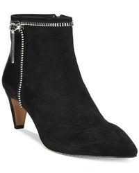 French Connection - Black Kordelle Suede Booties - Lyst