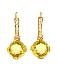 Frederic Sage - Metallic 18k Lemon Quartz & Diamond Jelly Bean Earrings - Lyst