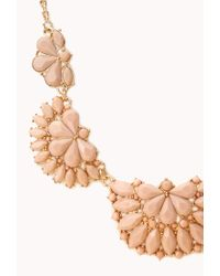 Forever 21 | Orange Elegant Faux Stone Bib Necklace | Lyst