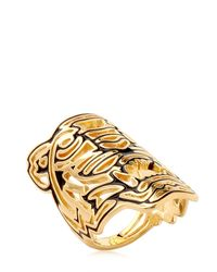 KENZO - Metallic Oversized Tiger Ring - Lyst
