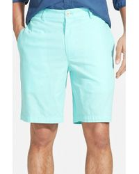 Vineyard Vines - Blue 'summer' Flat Front Twill Shorts for Men - Lyst