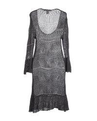 Jucca - Gray Short Dress - Lyst