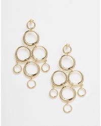 ASOS - Metallic Statement Smooth Rings Earrings - Lyst