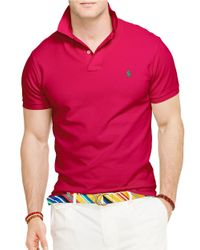 Polo Ralph Lauren | Pink Classic-fit Mesh Polo Shirt for Men | Lyst