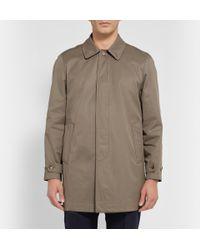 Dunhill - Green Cotton Rain Coat for Men - Lyst