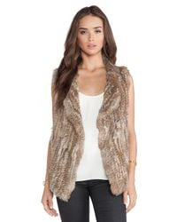 Joie | Brown Andoni Rabbit Fur Vest | Lyst
