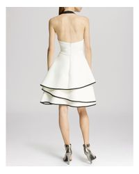 Halston - White Dress - Halter Neck Layered Skirt - Lyst