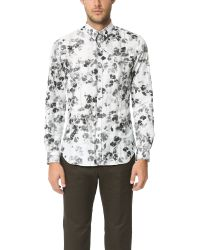 PS by Paul Smith | Gray Floral Print Slim Fit Shirt for Men | Lyst