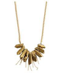 Soixante Neuf - Metallic Gold Pyrite Fringe Necklace - Lyst