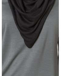 Unconditional - Gray Draped Cowl Neck Top - Lyst