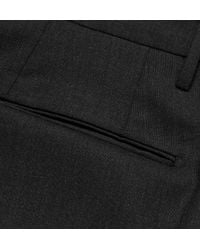 Incotex | Gray Slim-Fit Wool Trousers for Men | Lyst