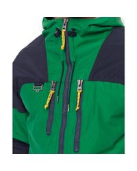 Ralph Lauren | Green Hooded Colorblocked Jacket for Men | Lyst