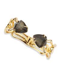Alexis Bittar | Black Hinged Fancy Pyrite Crystal Doublet Bracelet | Lyst