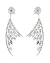 Shaun Leane - Blue Diamond, Aquamarine & White-Gold Earrings - Lyst